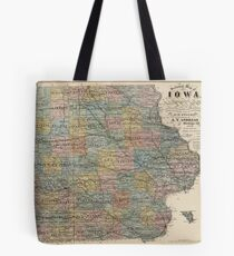 Vintage Map of Iowa (1875) Tote Bag