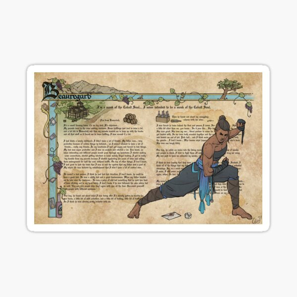 Monk of the Cobalt Soul Sticker
