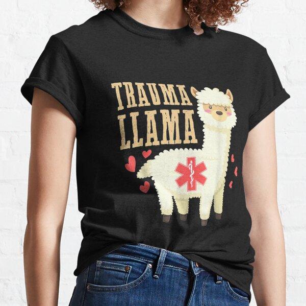 Funny Paramedic Gift Trauma Llama Cute Paramedic T Shirt Classic T-Shirt