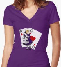 Twisted Tales - Alice in Wonderland Women's Fitted V-Neck T-Shirt