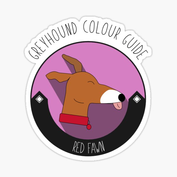 Greyhound Colour Guide - Red Fawn Sticker