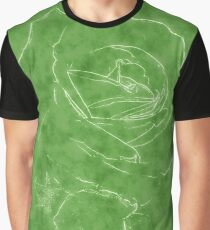 Pink Roses in Anzures 2 Outlined Green Graphic T-Shirt