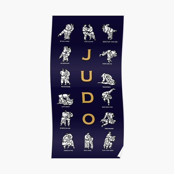 Techniques de judo Poster