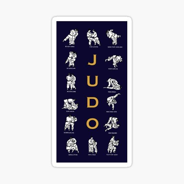 Judo Techniques Sticker