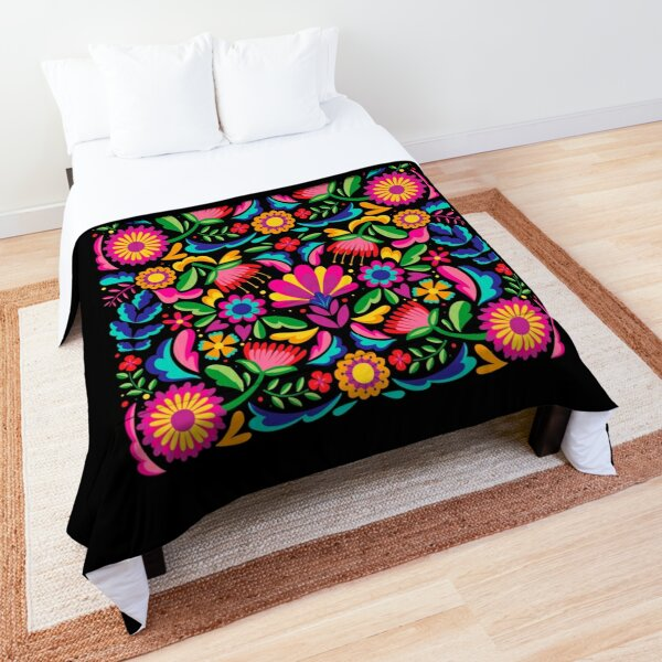 Mexico Mexican Flowers Comforter