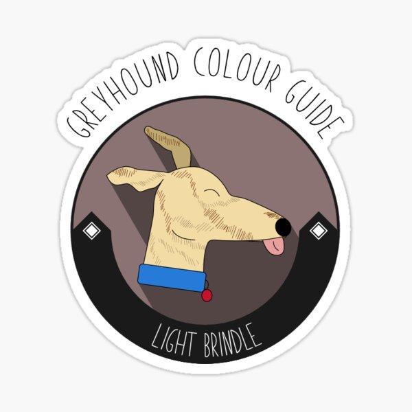 Greyhound Colour Guide - Light Brindle Sticker
