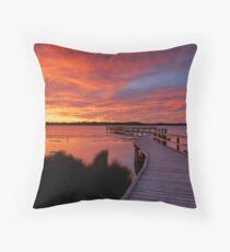 Lake Clifton Sunset Throw Pillow