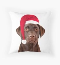 Christmas Labrador dog Throw Pillow