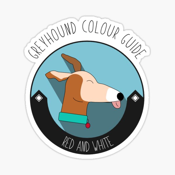 Greyhound Colour Guide - Red and White Sticker