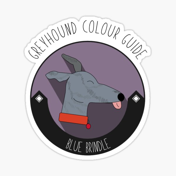 Greyhound Colour Guide - Blue Brindle Sticker