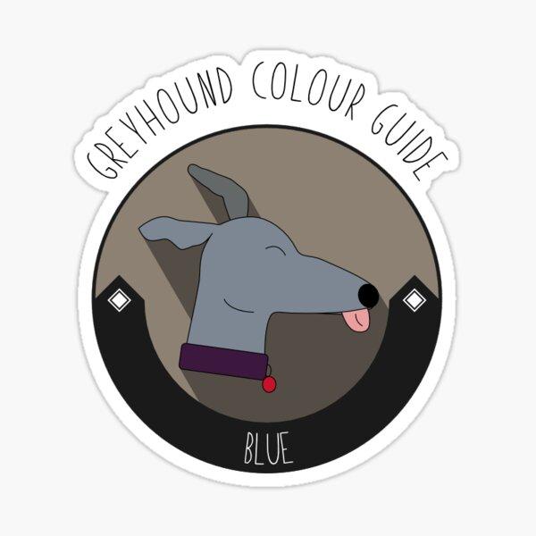 Greyhound Colour Guide - Blue Sticker
