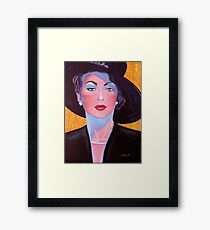 Glamorous Lady from the Fifties Framed Print