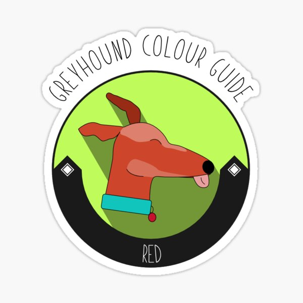 Greyhound Colour Guide - Red Sticker