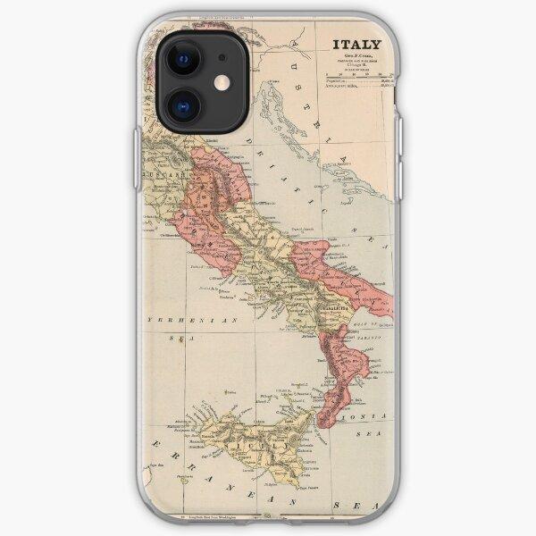 Vintage Karte von Italien (1883) iPhone Flexible Hülle