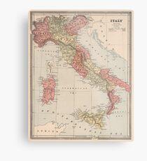 Vintage Map of Italy (1883) Metal Print