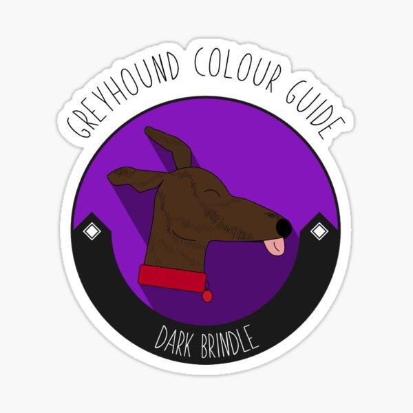 Greyhound Colour Guide - Dark Brindle Sticker