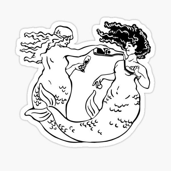 Happy Hour Mermaids Sticker