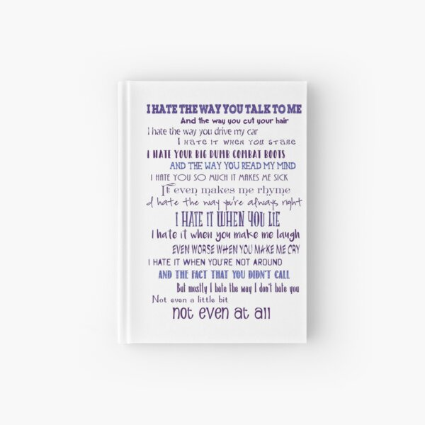 10 Things I Hate About You Hardcover Journal