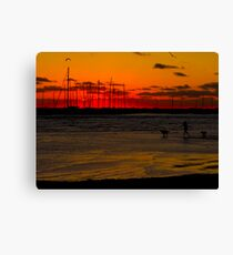 Running for the Sun Canvas Print