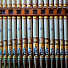 Colourful organ pipes by Jenny Setchell