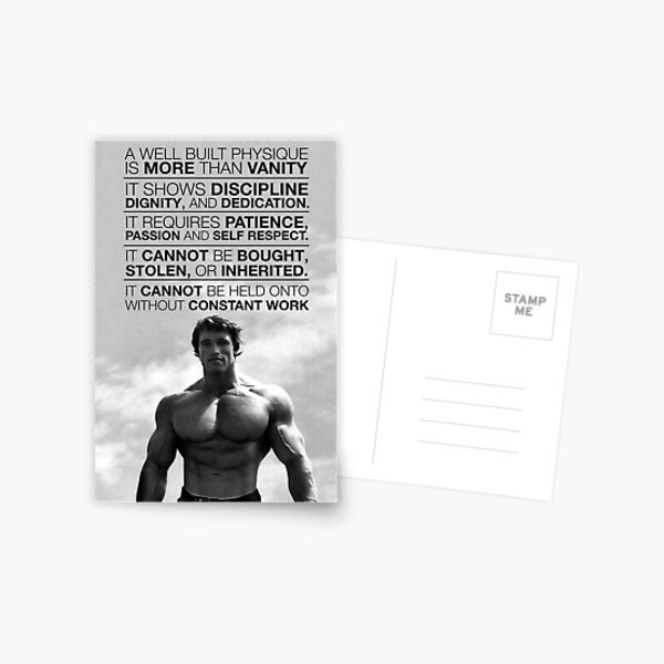 Arnold Schwarzenegger: A well built physique is more than vanity (HD) Postcard