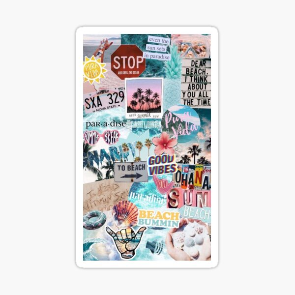 Vsco Aesthetic Collage Wallpaper Sticker By Jogradydesign Redbubble
