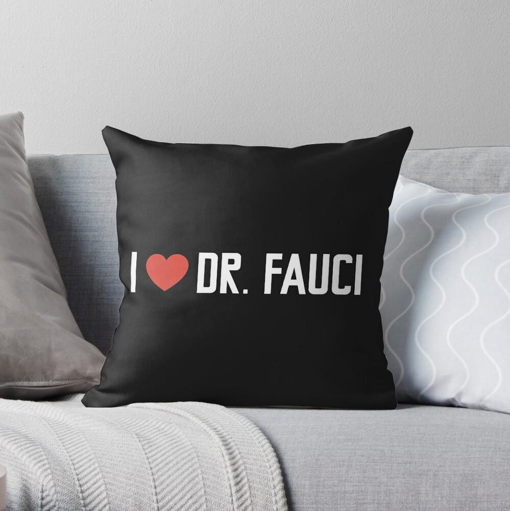 dr fauci Throw Pillow