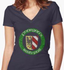 Finnegan's Irish Pub Nuremberg  Women's Fitted V-Neck T-Shirt