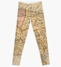 Vintage Jamaica Map Leggings Redbubble - Vintage map of jamaica
