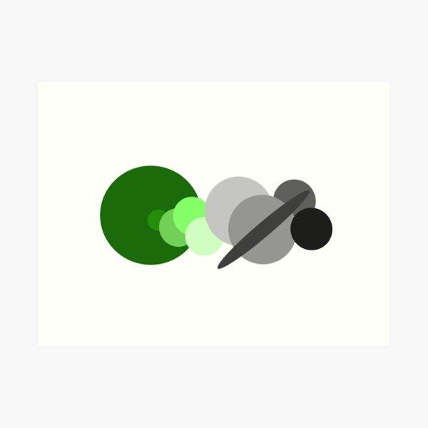 Aromantic Solar System Sticker  Art Print