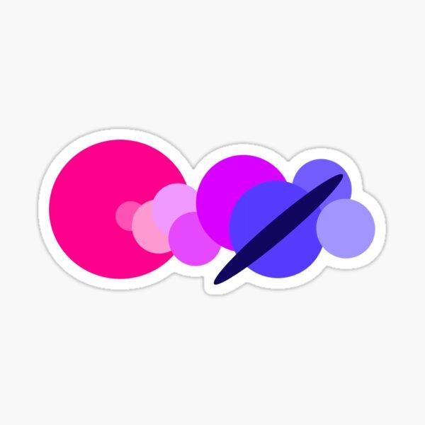 Bisexual Solar System Sticker
