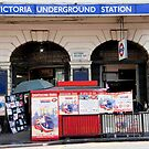 Victoria Underground Station by phil decocco
