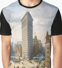 Flat Iron in New York City, ca 1903 colorized Graphic T-Shirt