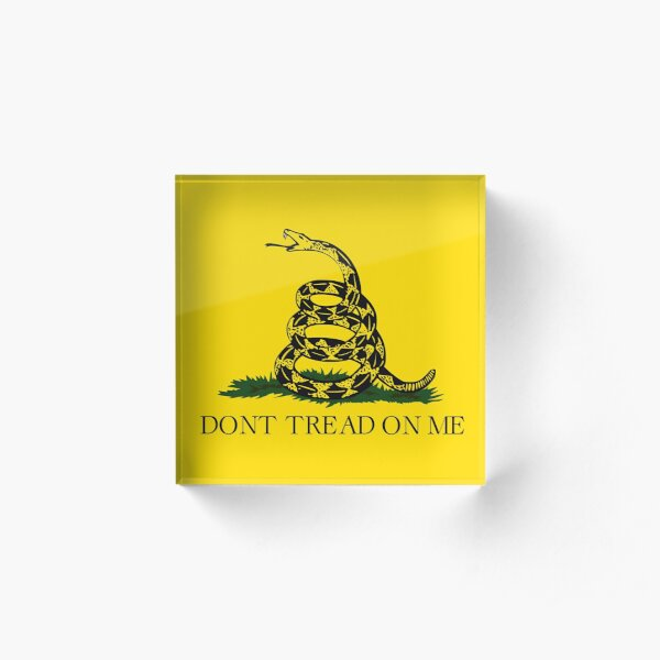 Gadsden flag Don't tread on me Libertarian 2nd amendment 2A yellow flag HD HIGH QUALITY ONLINE STORE Acrylic Block