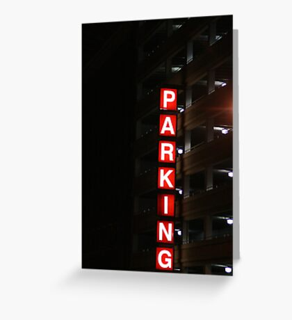 Lighted Parking Greeting Card