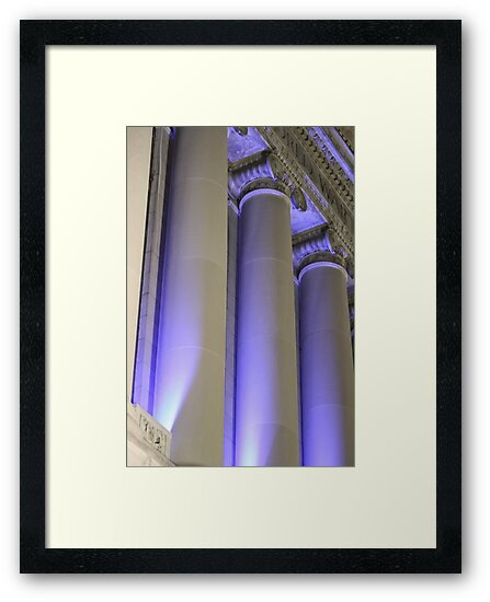 Blue Columns by Dean Mucha