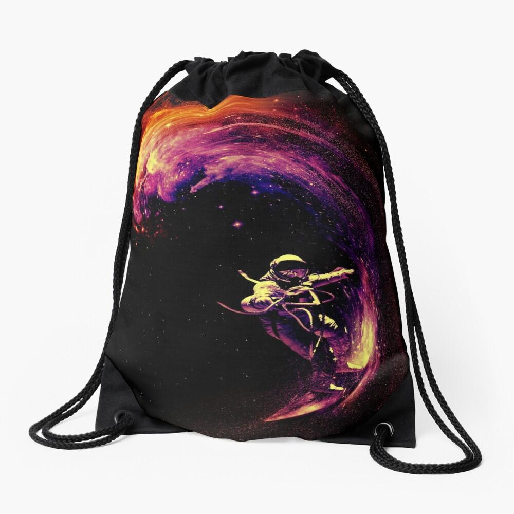 Space Surfing Drawstring Bag