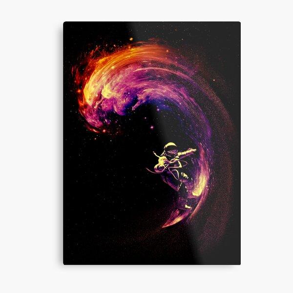 Space Surfing Metal Print