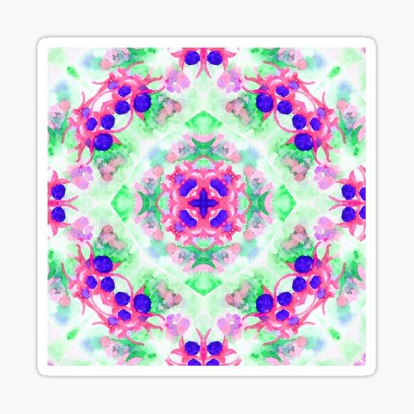 Fuchsia Flower Kaleidoscope  Sticker