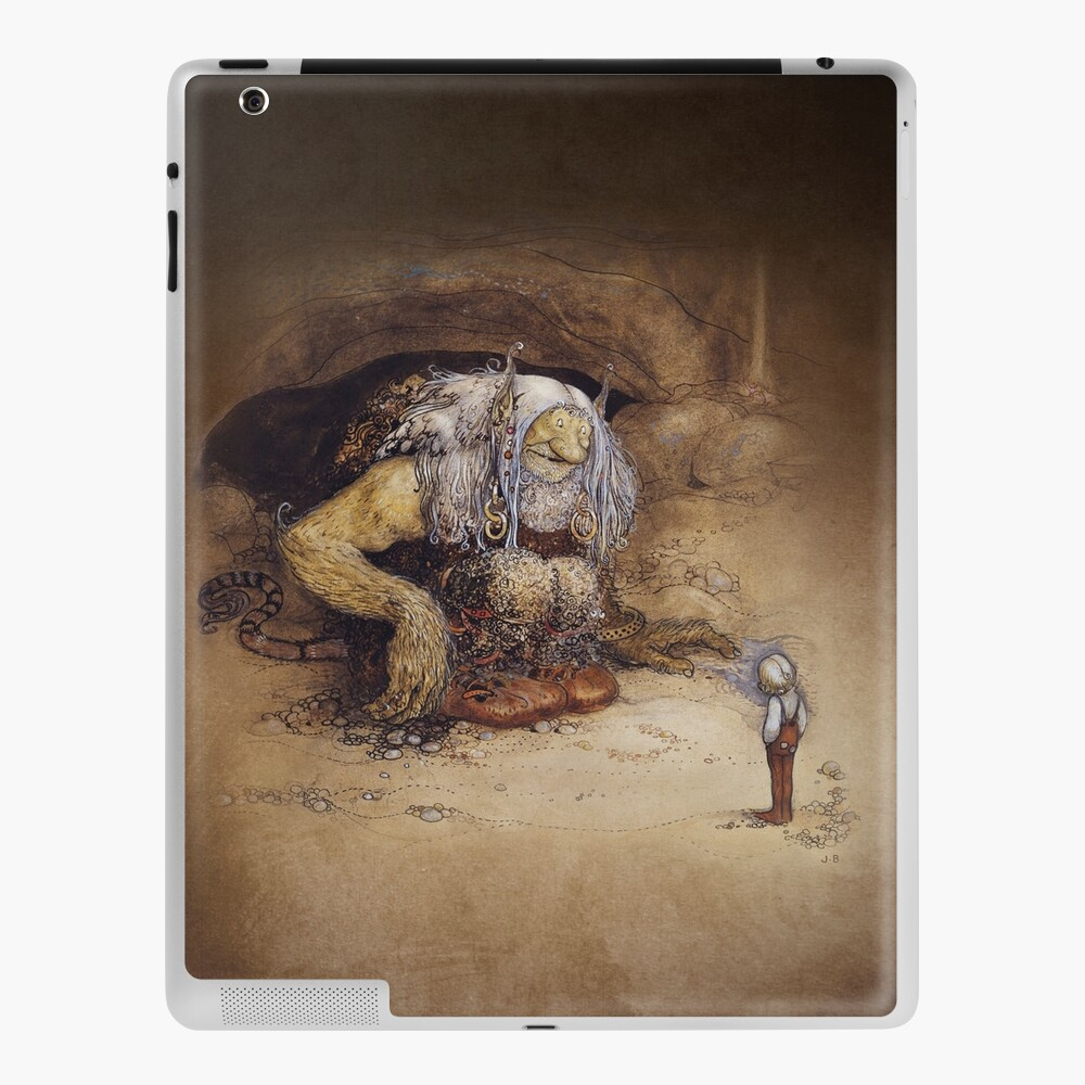 John Bauer 1912 The Boy Who Was Never Afraid Norwegian Trolls Art Nouveau Watercolor Illustrationsnorse Viking Norway Mythology Hd High Quality Ipad Case Skin By Iresist Redbubble