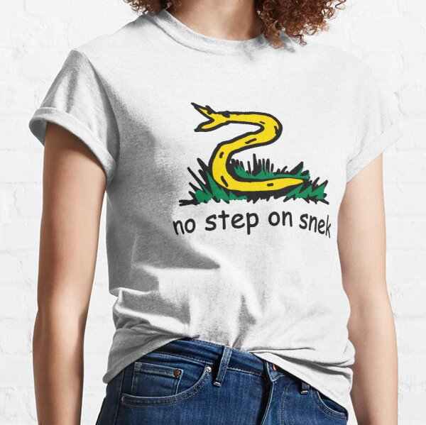 No Step on Snek yellow and black ANCAP Libertarian funny kiddish snake Gadsden Flag Parody Don't tread on me HD HIGH QUALITY ONLINE STORE Classic T-Shirt