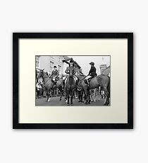 Waiting  the Hounds   Framed Print