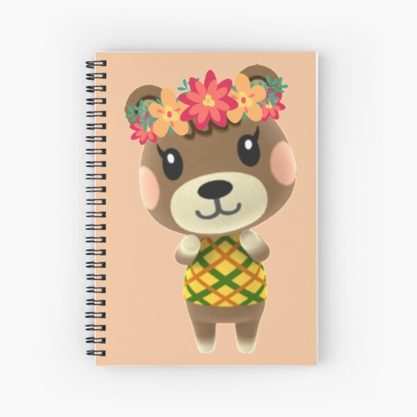 Animal Crossing - Maple Flower Crown Spiral Notebook