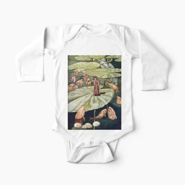 """""""The Little Fishes and Thumbelina"""" by Charles Robinson Long Sleeve Baby One-Piece"""
