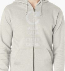 Keep calm and clear cache Zipped Hoodie