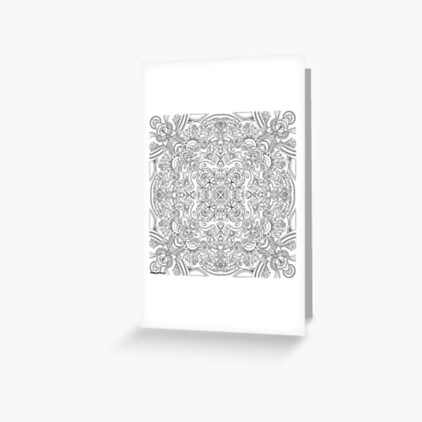 Flower Coloring Art - Doodle Art Alley Greeting Card