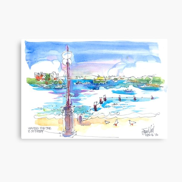Waiting for the Ferry at Manly, Sydney Metal Print