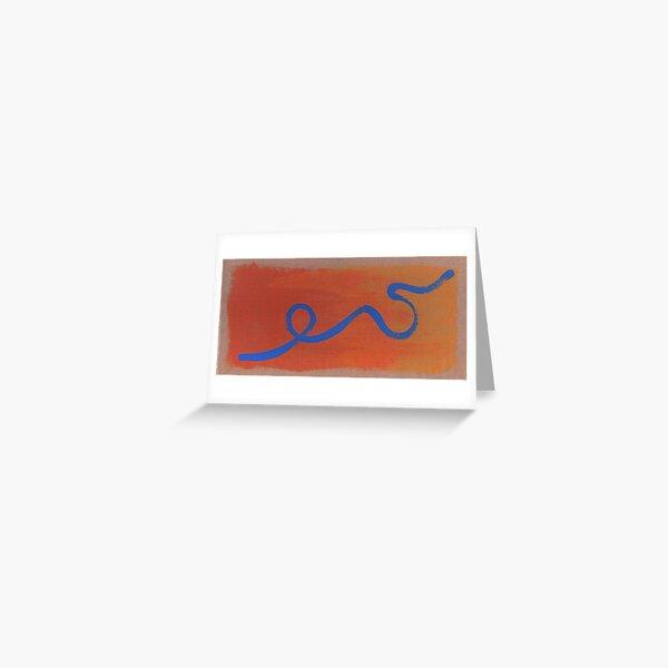 Blue Line Greeting Card