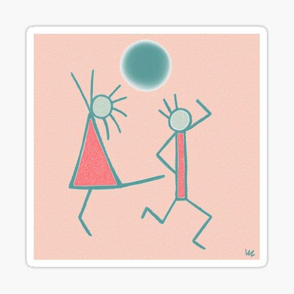 Dancing In the Moonlight Sticker