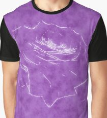 Pink Roses in Anzures 3 Outlined Purple Graphic T-Shirt